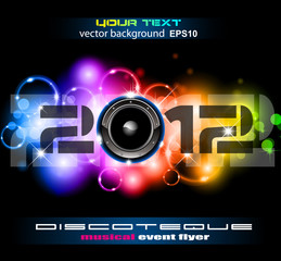 Colorful New Year Celebration Background