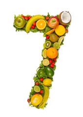 Fototapeta Fruit number