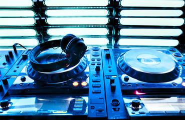 Wall Mural - Dj mixer with headphones