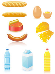 set icons of foods