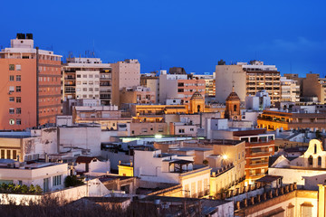 View of the urban area of Almeria, Andalucia, Spain.