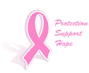 Vector illustration of a breast cancer pink ribbon