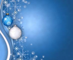 christmas balls greeting
