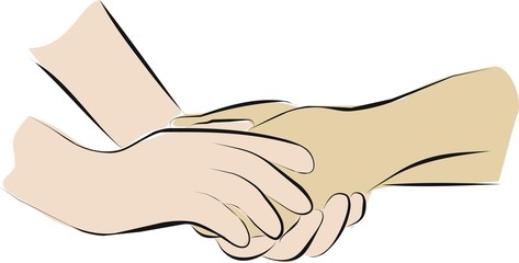 holding hands with palliative care