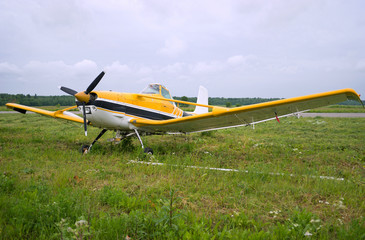Light aircraft parked