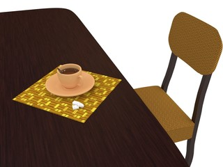 Cup of tea on a table