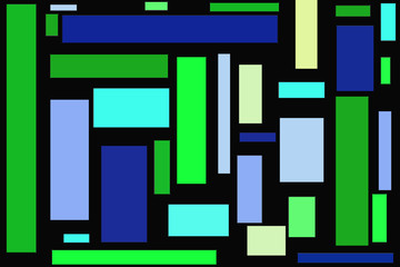 Rectangles In Different Shades Of Blue And Green