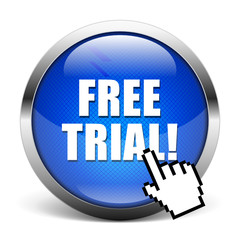 blue button - free trial