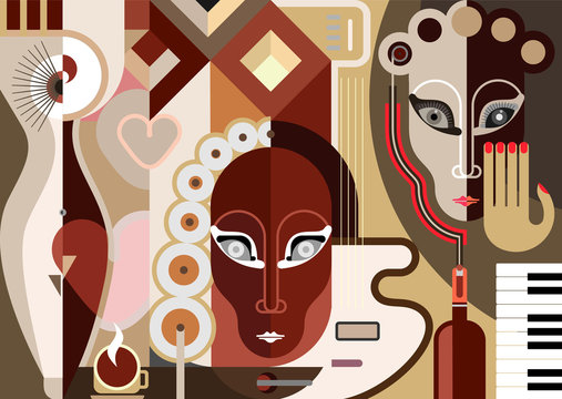 Abstract Musical Illustration