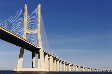 Vasco da Gama bridge in Lisbon in summer
