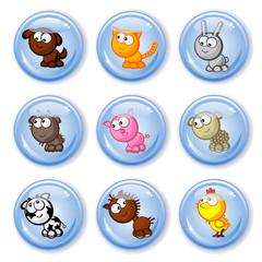 buttons farm pets