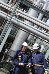 refinery workers and pipelines, chemical industry