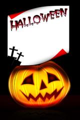 Halloween frame postcard