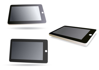 vector image isolated tablet computer - set