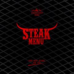 Steak Menu Card Design template