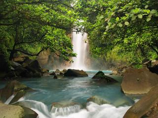 Celestial blue waterfall