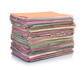 Stack of folder files