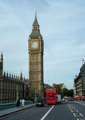 Autocollant pour porte Londres bus rouge Big Ben