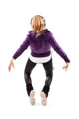 Tänzerin steht auf Zehenspitzen