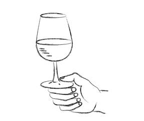 Tenir le verre