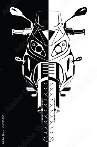 """Motorcycle Front View"" Stock image and royalty-free ..."