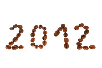 coffee with granules and new year 2012