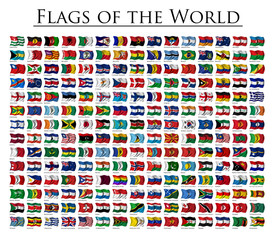Set of 210 World flags - updated October 2011