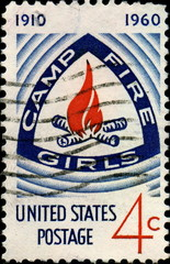 Camp Fire Girls. 1910- 1960. US Postage.