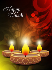 abstract colorfull diwali celebration background