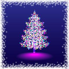Elegant christmas tree