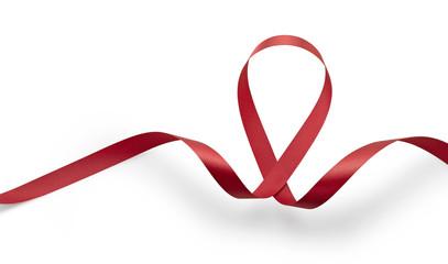 Aids awareness red ribbon