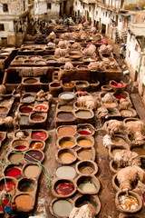 Morocco, Fez, Tannery