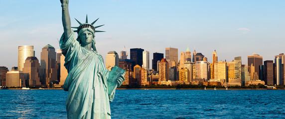 Fotomurales - New York Manhattan statue de la Liberté