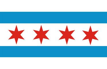 chicago flag Fototapete