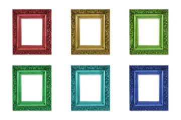 Ornate colourful frames