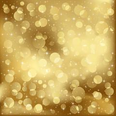 Gold blurry lights