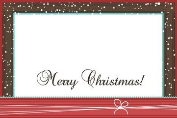 Christmas photo frame, vector