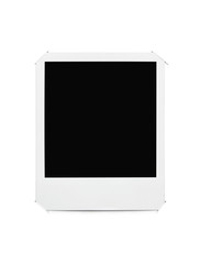 Blank picture frame stuck in album page with clipping path