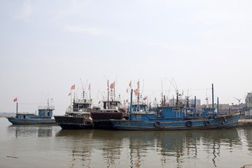 vessels moored at the pier