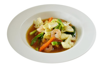 Seafood and Noodles in a Creamy Sauce