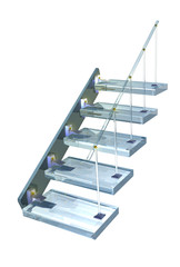 Blue glass ladder