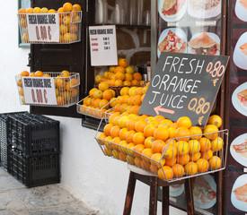 Shop Selling Fresh Orange Juice