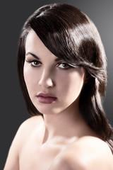 beauty portrait of a brunette