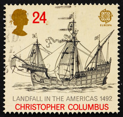Postage stamp GB 1992 Discovery of America