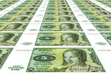 Alte 5 DM Banknoten