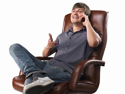 Positive mobile phone conversation