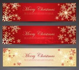 Winter theme web banners.