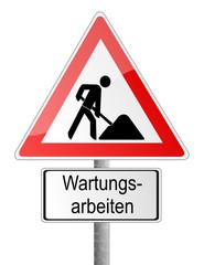 Verkehrsschild Wartungsarbeiten