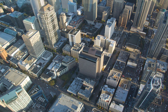 Aerial View - Seattle Downtown