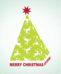 Abstrac christmas tree background